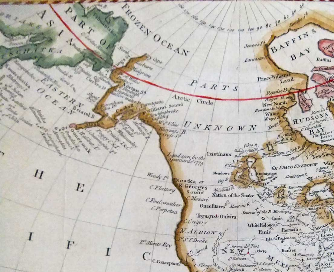 MAP-049 2L Antique Map North America - Cook - 1783 l The Past Perfect Collection l Singapore copy