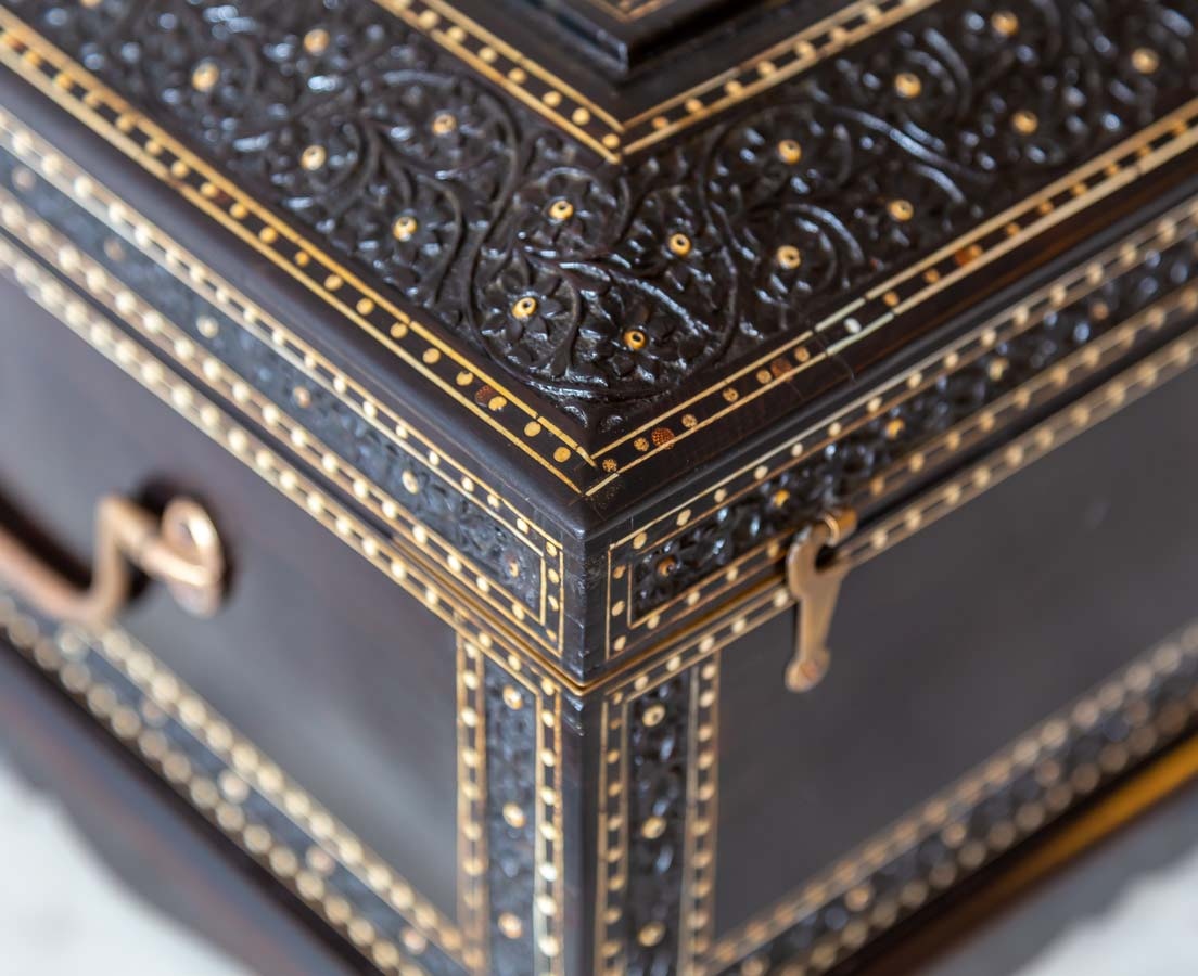 BOX-274 2bL Anglo-Indian Ebony Dressing Box l The Past Perfect Collection l Singapore