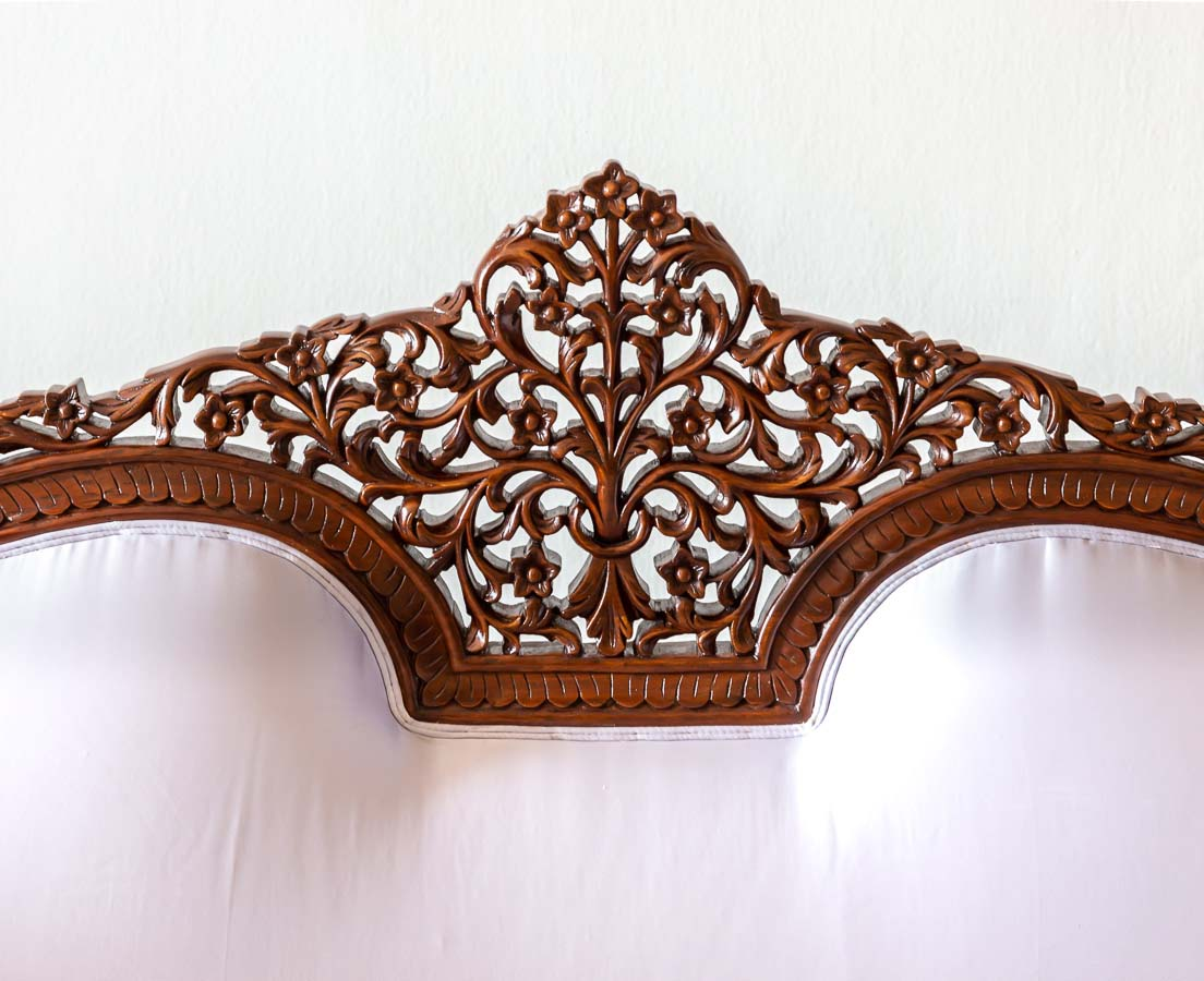 BSS-081 5L Anglo-Indian Walnut Carved Sofa l The Past Perfect Collection l Singapore