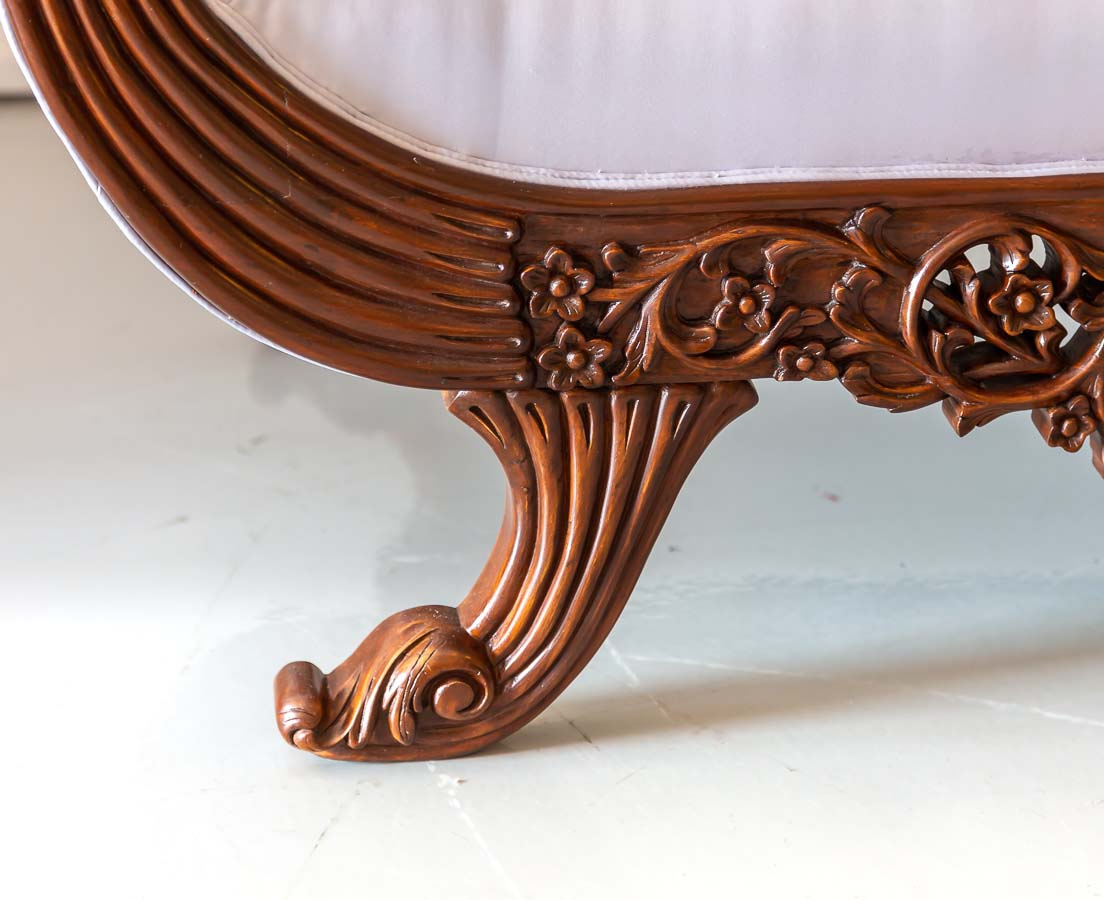 BSS-081 6L Anglo-Indian Walnut Carved Sofa l The Past Perfect Collection l Singapore