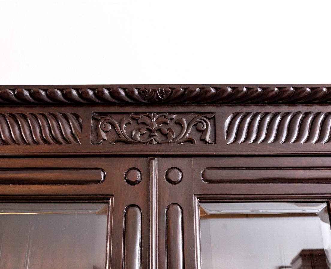 CUP-439 4L Anglo-Indian Rosewood Glass Front Cabinet l The Past Perfect Collection l Singapore