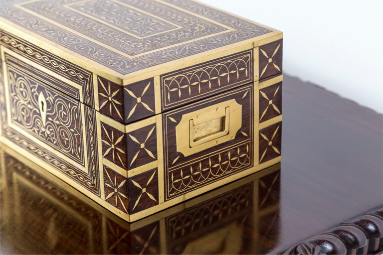 Perfume Box -Inlay of delicately shaped pieces of brass l The Past Perfect Collection l Singapore