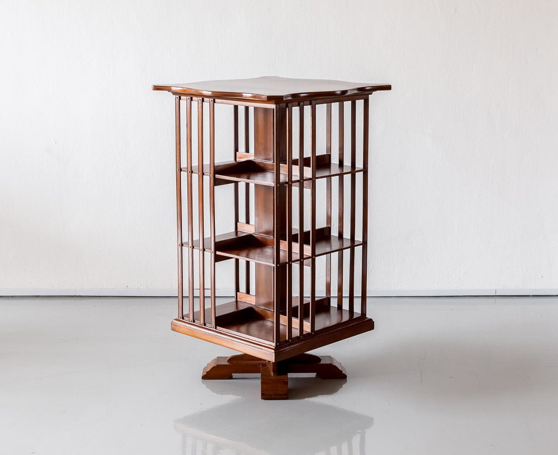 CUP-456 1L Anglo-Indian Teakwood Revolving Bookcase l The Past Perfect Collection l Singapore