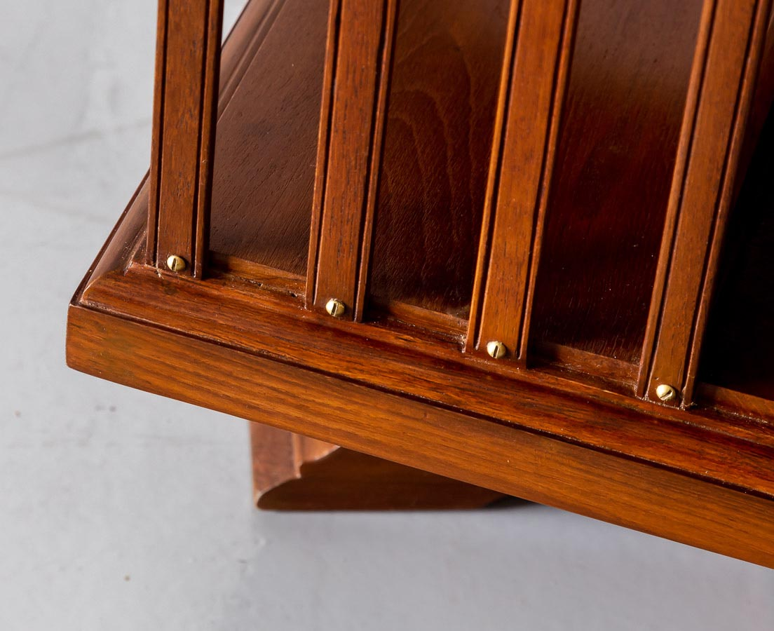 CUP-456 5L Anglo-Indian Teakwood Revolving Bookcase l The Past Perfect Collection l Singapore