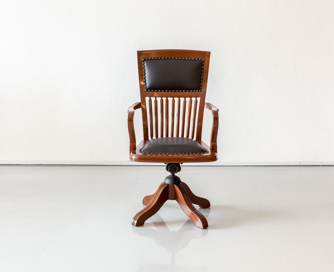 Anglo-Indian Teakwood Desk Chair l The Past Perfect Collection l Singapore