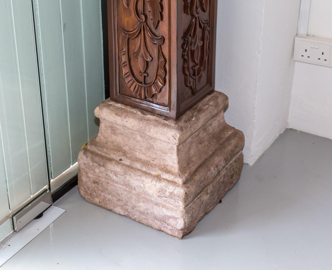Pair of Teakwood Pillars l The Past Perfect Collection l Singapore