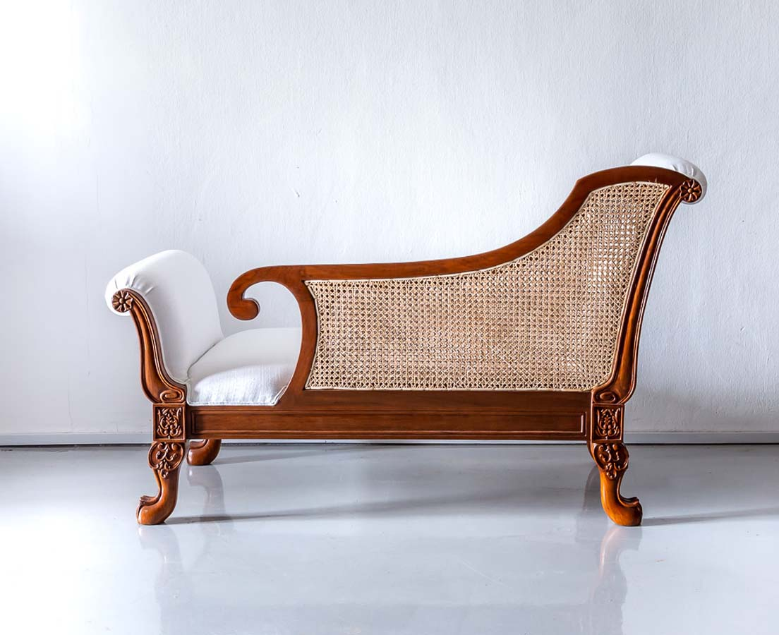 Anglo-Indian Teakwood Recamier l The Past Perfect Collection l Singapore