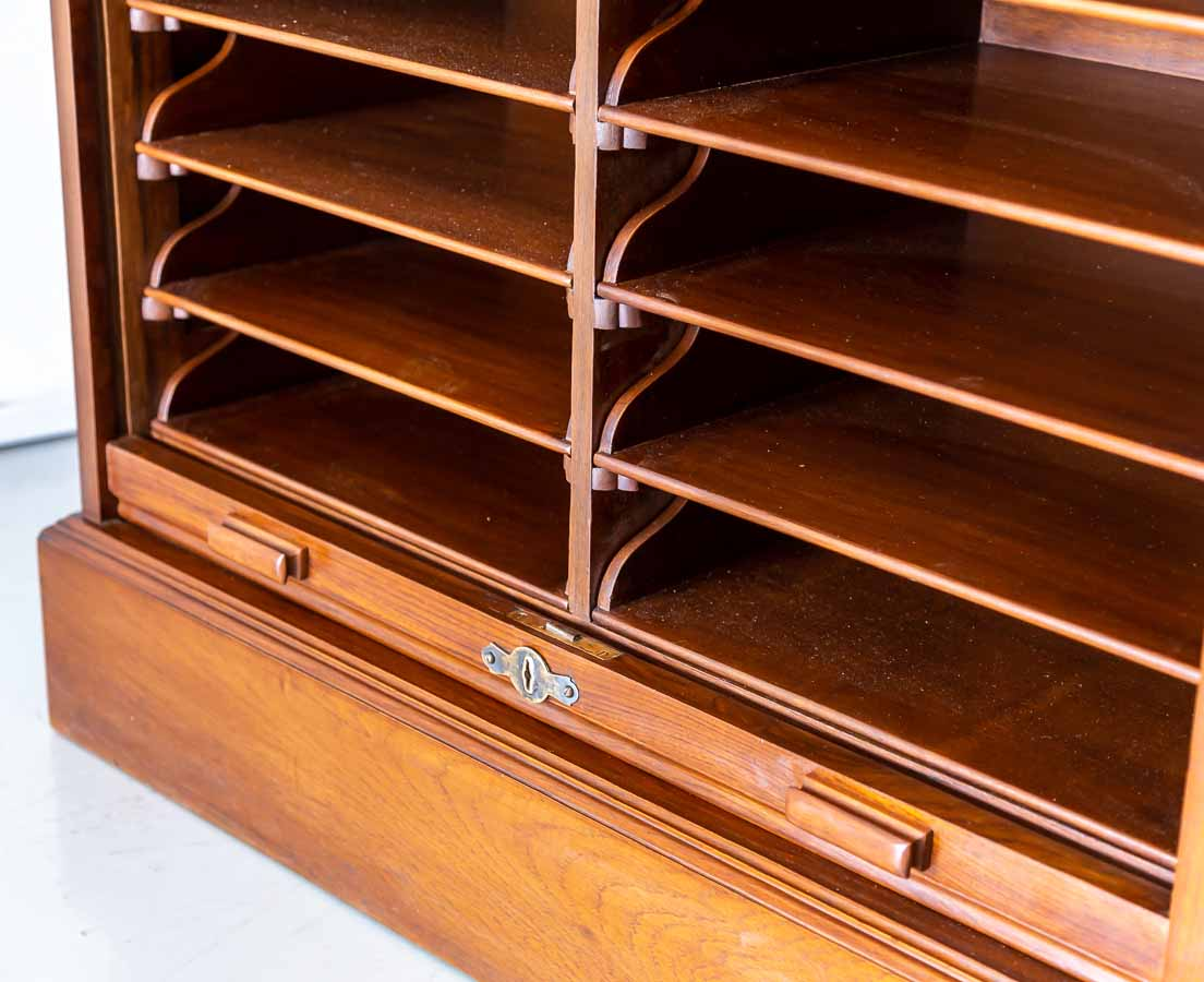 Antique Cupboards - British Colonial teakwood Filing Cabinet - The Past Perfect Collection - Singapore