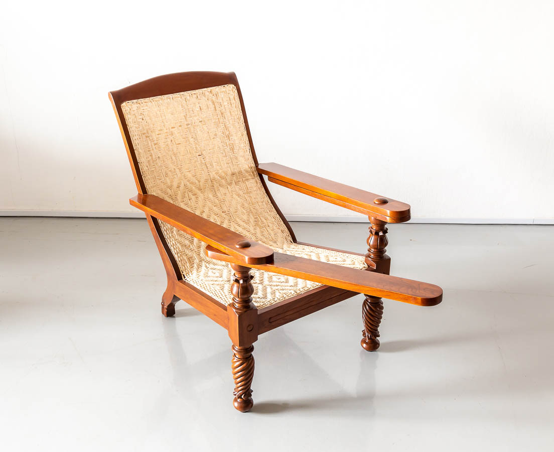CHA-245 4L Anglo-Indian Teakwood Planter's Chair l The Past Perfect Collection l Singapore
