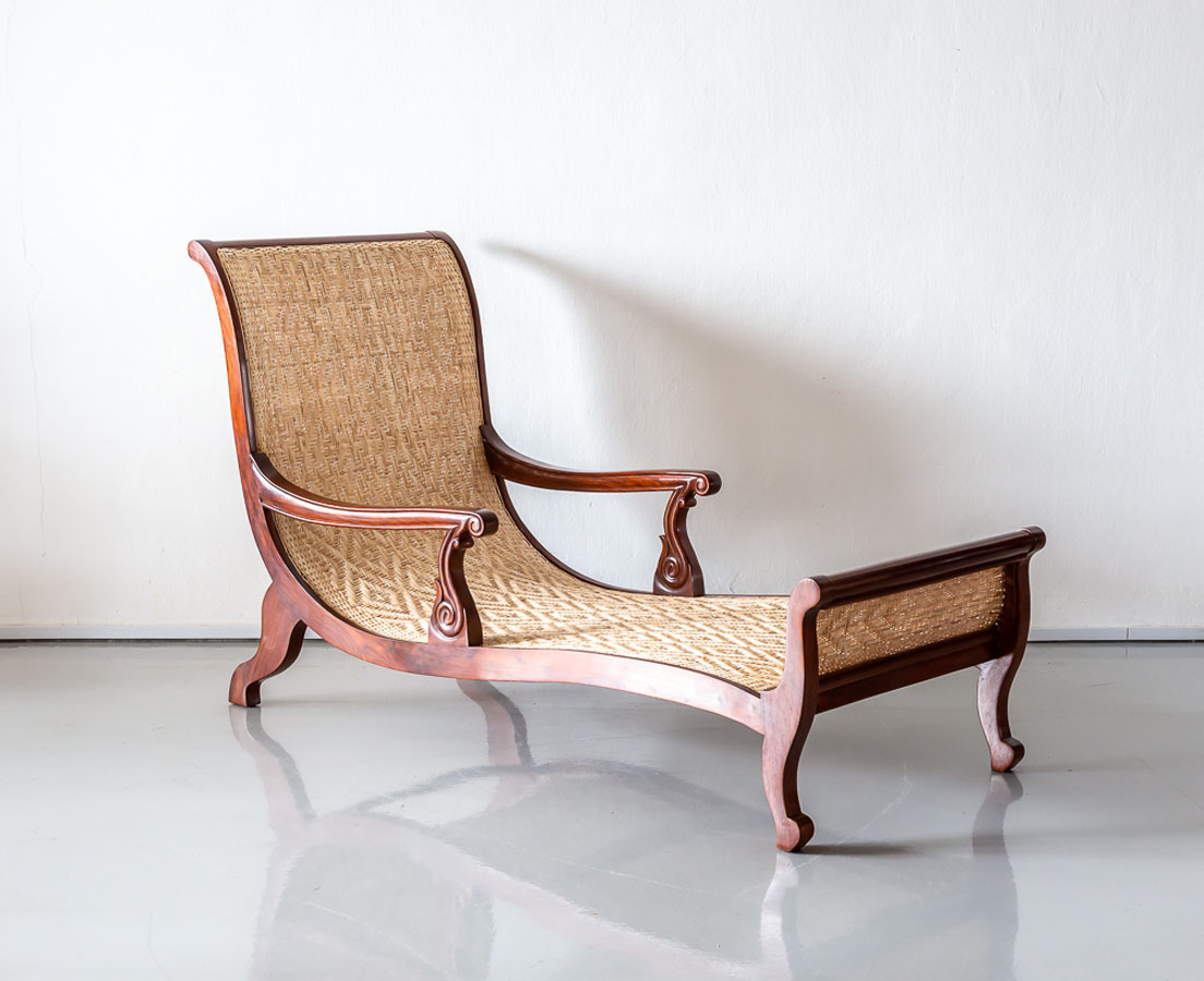 CHA-247 3L Anglo-Indian Teakwood Easy Chair l The Past Perfect Collection l Singapore