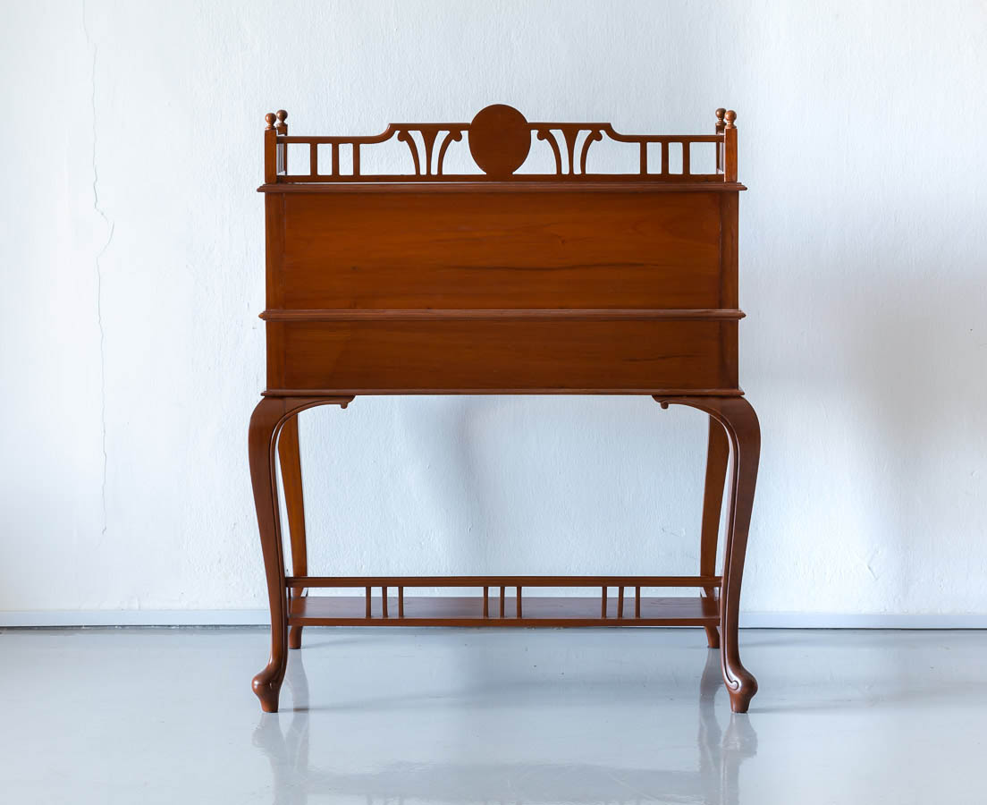 DSK-166 9L Anglo-Indian Teakwood Cylinder Desk l The Past Perfect Collection l Singapore