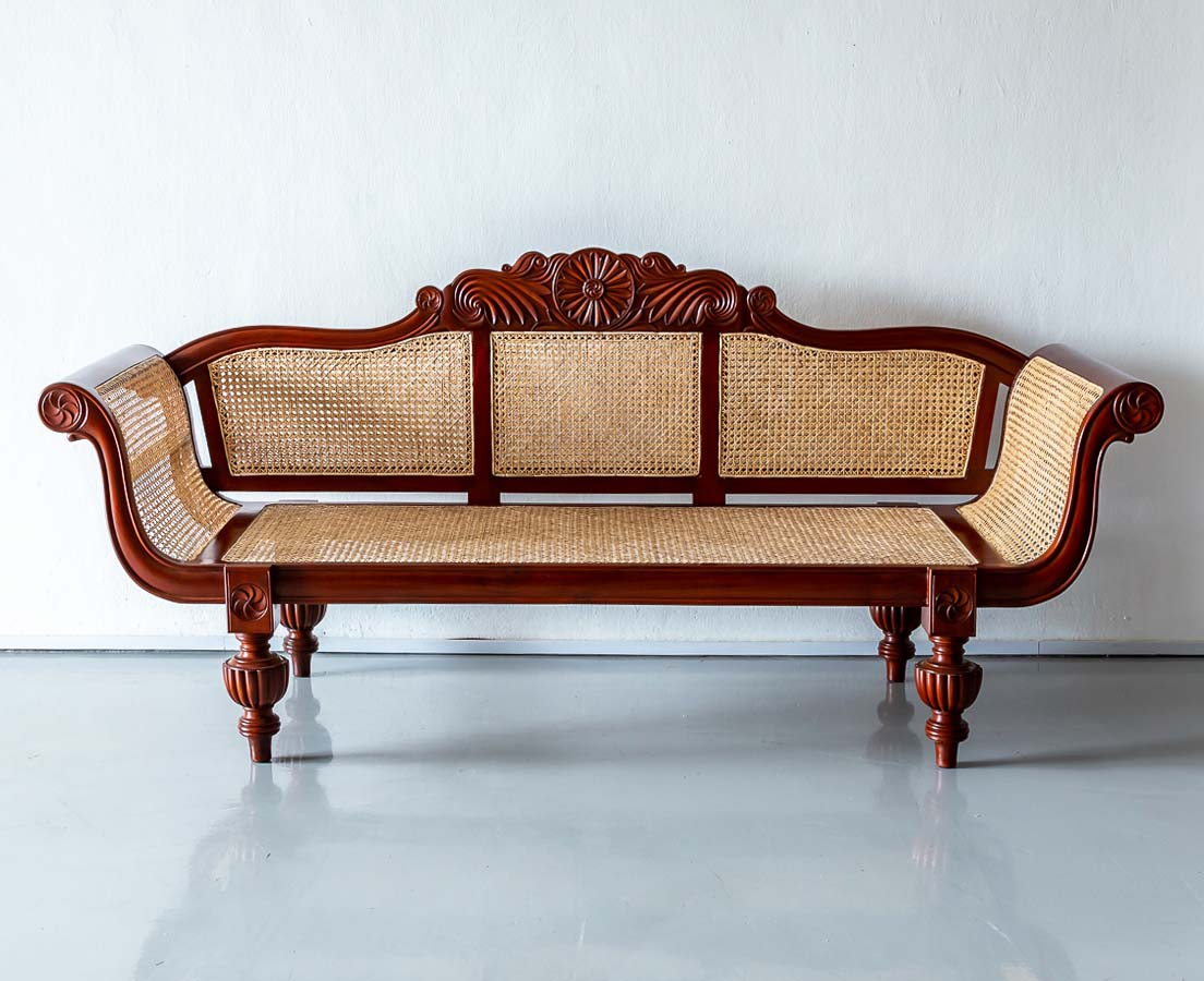 BSS-100 2L British Colonial Mahogany Sofa l The Past Perfect Collection l Singapore