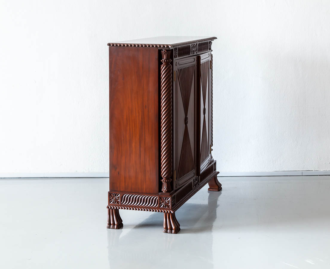 Antique Cupboards - British Colonial Mahogany Sideboard - The Past Perfect Collection - Singapore CUP-512 2L