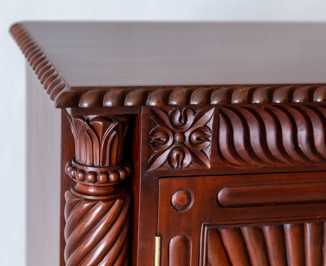 Antique Cupboards - British Colonial Mahogany Sideboard - The Past Perfect Collection - Singapore CUP-512 7L