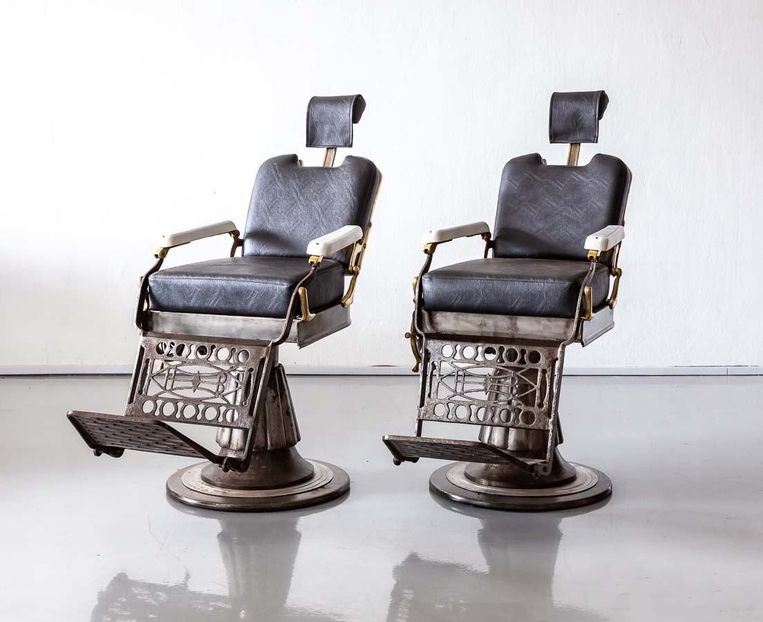 Pair of Vintage Barber Chairs l The Past Perfect Collection l Singapore CHA-256 2L