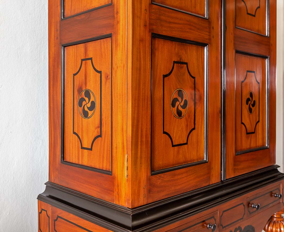 Antique Cupboards - Dutch Colonial Mahogany Cupboard - The Past Perfect Collection - Singapore
