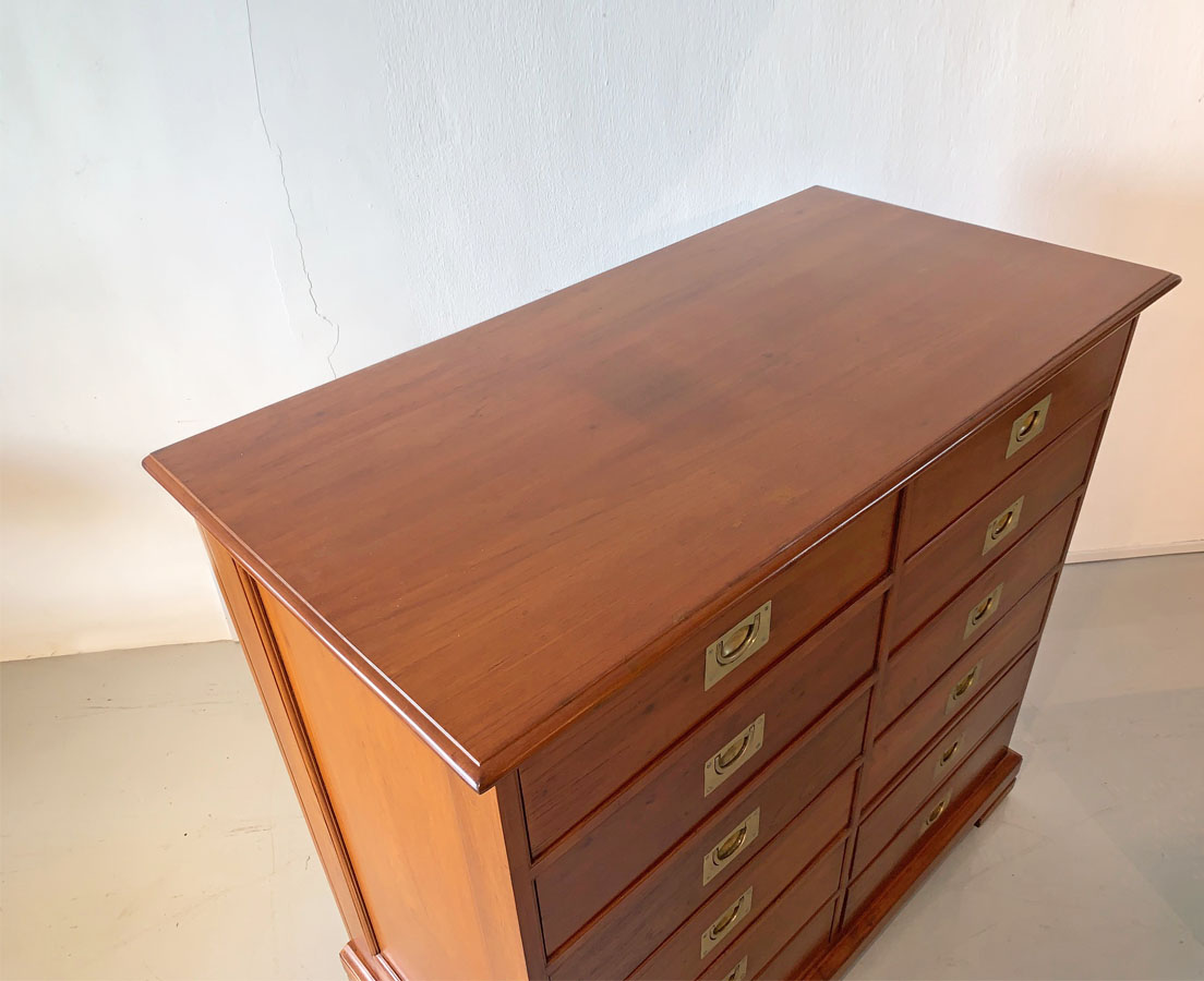 Antique Cupboards - British Colonial Teakwood Chest of Drawers The Past Perfect Collection - Singapore